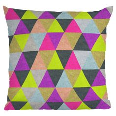 Bianca Green Ocean of Pyramid Throw Pillow