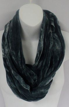 Charcoal tie dye infinity scarf in by qualicumclothworks on Etsy