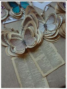 Newspaper butterflies