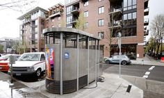 The Portland Loo is solar-powered, graffiti-proof and almost impossible to damage. The relative lack of privacy and faucet on the outside encourage people not to linger. (Rick Bowmer, Associated Press / August 29, 2012)
