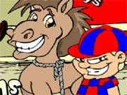 Peters task is simply to gather all the horseshoes scattered around the farm. Kentucky Derby Race, Pony Games, Horse Games, Baseball Games, Online Games, Scooby Doo, Horseshoes, Cartoon, Ninja