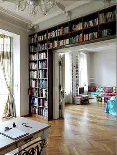 If I could build shelves like this around every doorway, then we might be okay.