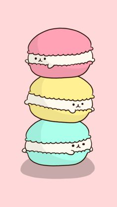 Macarons: Cutie macaron background for Cocoppa!