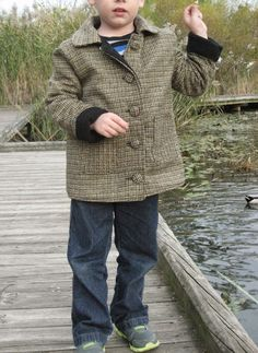 Kathy Sews : Sewing For Boys 2-In-1 Jacket: A Coat Made From My Cape's Scraps