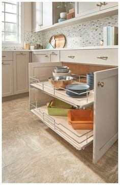 Small Kitchen Remodeling Rev-A-Shelf 5330 Series 36 Inch Pull Out Base Organizer with One She Maple Base Cabinet Organizers Pull Out Organizers Shelves - Classic Kitchen, New Kitchen, Kitchen Decor, Kitchen Ideas, Kitchen Inspiration, Awesome Kitchen, 10x10 Kitchen, Kitchen Hacks, Decorating Kitchen