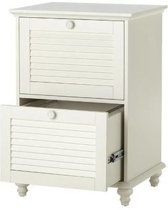Home Decorators Collection Shutter Two-Drawer File Cabinet - 2 Drawer, Polar White from Home Decorators Collection   BHG.com Shop