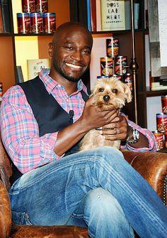 Taye Diggs and his dog Sammy