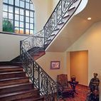 Mediterranean Double Staircase Design, Pictures, Remodel, Decor and Ideas