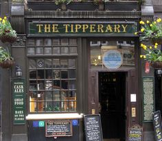 The Tipperary is London's most historic Irish pub. Of course with any Irish pub to make it authentic you need Guinness – and The Tipperary was remarkably the first pub to serve Guinness outside of Ireland anywhere in the world! London Pubs, Old London, London Calling, England Uk, London England, Ireland Pubs, Uk Pub, Shop Facade, Best Pubs