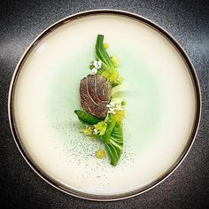 Pan-fried and torched cod, pak choi, lemon, herbs by @kamil_cichy  FOLLOW @cookniche for Culinary inspirations