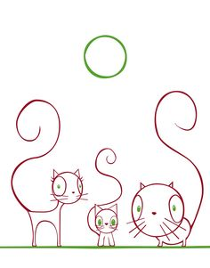 cats--maybe not Zentangle-ish, but cute