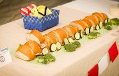 A Subway sandwich train. Get it? Terrific Train Birthday Party