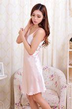 cb1a393e93c 2017 summer Women Sexy Rayon Silk Sleepshirts braces Lingerie Nightdress  sleepwear female dress  3797   Price   US  10.30   FREE Shipping      hashtag3
