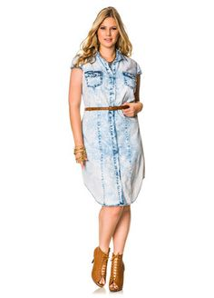 Plus Size Women s Eileen Fisher Classic Collar Chambray Shirtdress