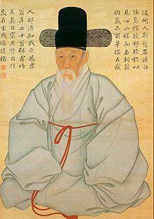Korean Artist - Self portrait of Sewhang Kang, a poet and painter in middle Chosun Dynasty (Korea), Korean Painting, Chinese Painting, Chinese Art, Korean Traditional, Traditional Art, Traditional Clothes, Haiku, Asian History, Korean Artist