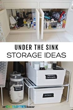 The area under my bathroom sink felt like it was overflowing with junk. See how I tackled this space to turn it into an organized and useful space. These storage ideas for under the bathroom sink are easy enough for anyone to use! Under Sink Organization Bathroom, Bathroom Vanity Storage, Small Bathroom Vanities, Bathrooms, Organization Ideas, Modern Bathroom, Bathroom Ideas, Diy Storage Under Sink, Storage Ideas For Bathroom
