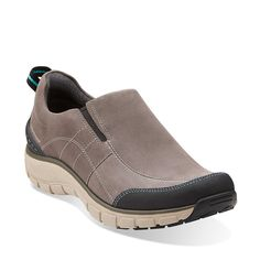 Wave Brook in Grey Nubuck - Womens Shoes from Clarks