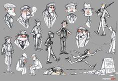 RHEMREV.COM | Visual development: The Great Depression - Character Sketches