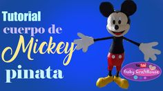como hacer el cuerpo de Mickey piñata Home Crafts, Disney Characters, Fictional Characters, Snoopy, Christmas Ornaments, Youtube, Holiday Decor, Plastic Containers, Recycle Plastic Bottles