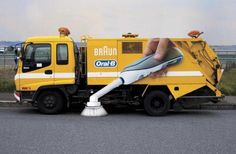 Devin Kunysz sent along this page of cool outdoor ads -- he especially likes the Oral B street sweeper! http://ultimateasset.com/recruitment-blog/8-brilliantly-innovative-ads-using-vehicles