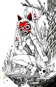 Princess Mononoke by olivernome.deviantart.com on @deviantART
