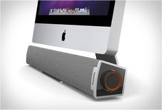 Xtrememac Tango Bar is a 10 watt speaker with a single USB connection that provides power and transfers audio from PCs and Macs. It´s design is perfect to be placed under Apple iMacs.