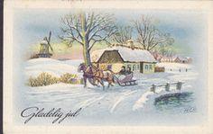 Denmark PPC Hans Christian Petersen : Kanekørsel V. Mølle FAKSE 1957 - Serie 83 Julemærke Christmas Seal (2 Scans) - Illustrators & Photographers
