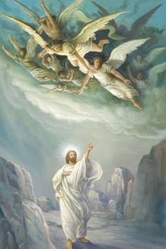 Angels God and Jesus Christ Catholic Art, Religious Art, Image Jesus, Pictures Of Jesus Christ, I Believe In Angels, Biblical Art, Angels Among Us, Angel Pictures, Angels In Heaven