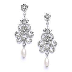 Southern Belle Glitz Bridal Earrings $99 www.SouthernBelleGlitz.com