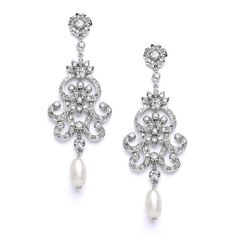 Southern Belle Glitz Bridal Earrings $99 www.SouthernBelleGlitz.com