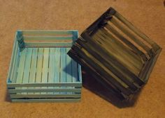 make your own wood crate, crafts, diy, woodworking projects, paint stick crates