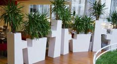 Easter containers can be configured to create a natural barrier or space participation in your space
