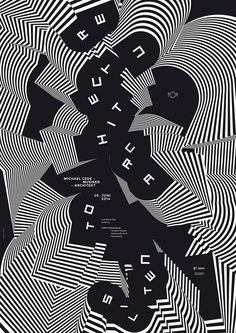 Poster by Klaus Birk for Lunchtime Talk 990×1400 пикс
