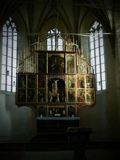 gothic altar from a romanian church ...aaaleeeluiaa