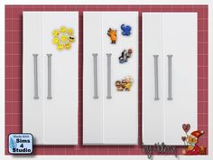 3 refrigerators with magnets at All 4 Sims • Sims 4 Updates
