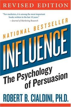 Influence by Robert Cialdini is one of my top pics for business books that marketers should read. The principles of influence show you how our brains work and why we buy. clearly a fundamental principle of marketing psychology. Good Books, Books To Read, My Books, Reading Lists, Book Lists, Reading Time, New York Times, Robert Cialdini, How To Defend Yourself