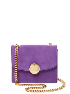 Trouble Mini Suede Crossbody from Marc Jacobs Collection on Gilt. Love the royal richness of purple with gold if you have the right shade of purple. This, my friends, is the right shade of purple.
