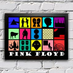 Poster Pink Floyd - Discografia Minimalista