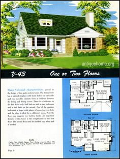 1949 ranch style homes from national plan service and antiquehome