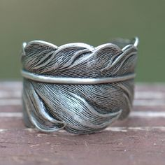 Feather Ring UNISEX. Size 4 to 14. Guidance Angel faith, steampunk, bird, mens Ladies matching couples spiritual angelic, Springs on Etsy, $24.00