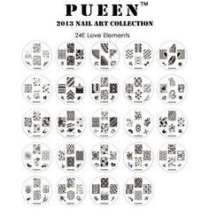 Pueen love elements stamping