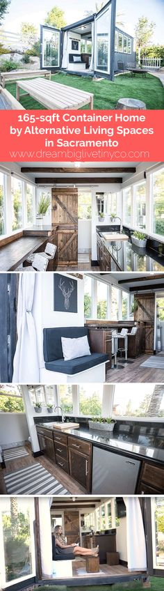 165-sf Container Home by Alternative Living Spaces in Sacramento