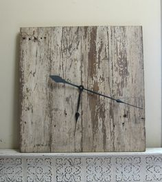 Farm House Chic Big Clock, Barn Chic, Urban Chic,. $255.00, via Etsy.