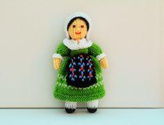 French Folk Doll - Knitting Pattern - PDF E-Mail £2.60