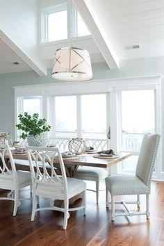 Cottage, Dining Room, Restoration Hardware Silver Sage