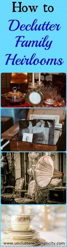 Great advice here! I have so much stuff lying around my house that isn't even mine! I have been worried that if I get rid of anything that my Grandmother left me, I would dishonor her memory.
