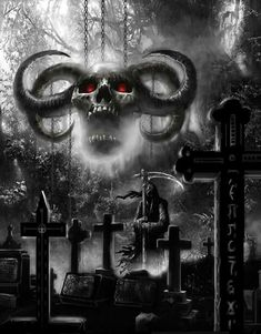 Skull Art by Krunoslav Kreculj Kole Dark Artwork, Dark Art Drawings, Skull Artwork, Skull Pictures, Dark Pictures, Imagenes Dark, Evil Skull Tattoo, Graveyard Tattoo, Grim Reaper Art