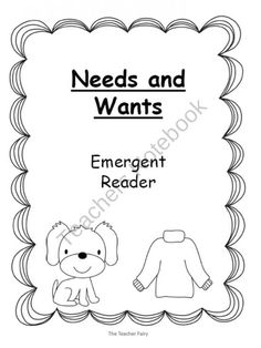 Needs and Wants- Emergent Reader product from The-Teacher-Fairy on TeachersNotebook.com