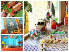 Hello Summer Surf Party with LOTS of beach party ideas via Kara's Party Ideas   KarasPartyIdeas.com