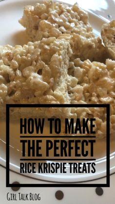 Girl Talk: The Easiest Rice Krispie Treats Recipe